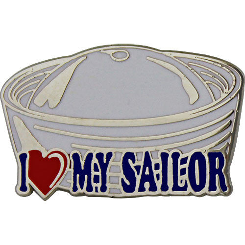 I Heart My Sailor on Dixie Cup Hat 1
