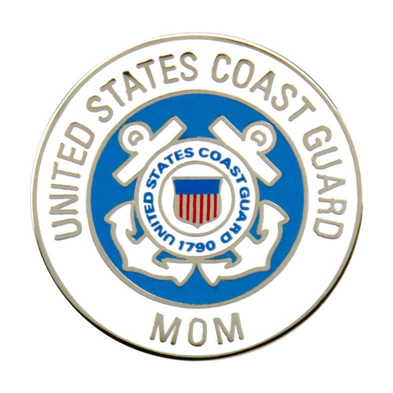 Coast Guard Mom with Crest 7/8