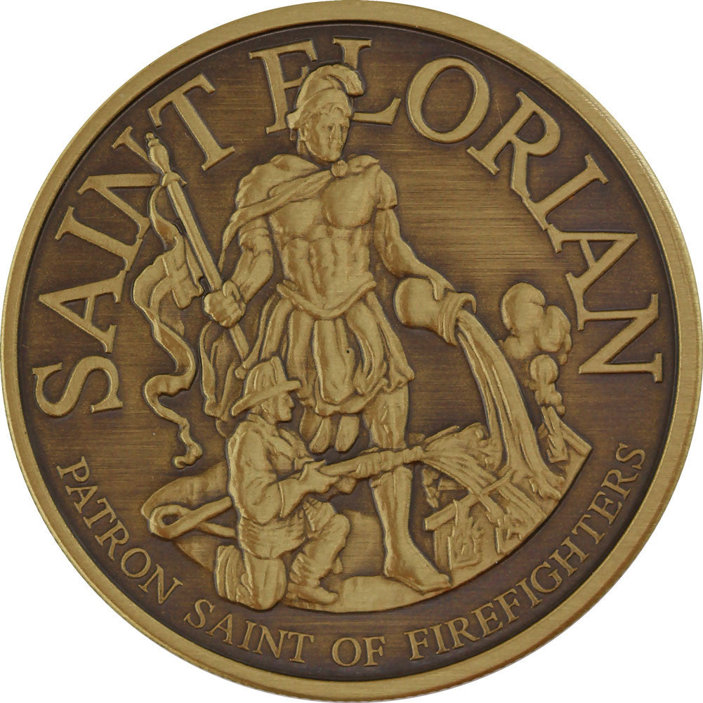 Saint Florian and NRA Seal Challenge Coin - Front