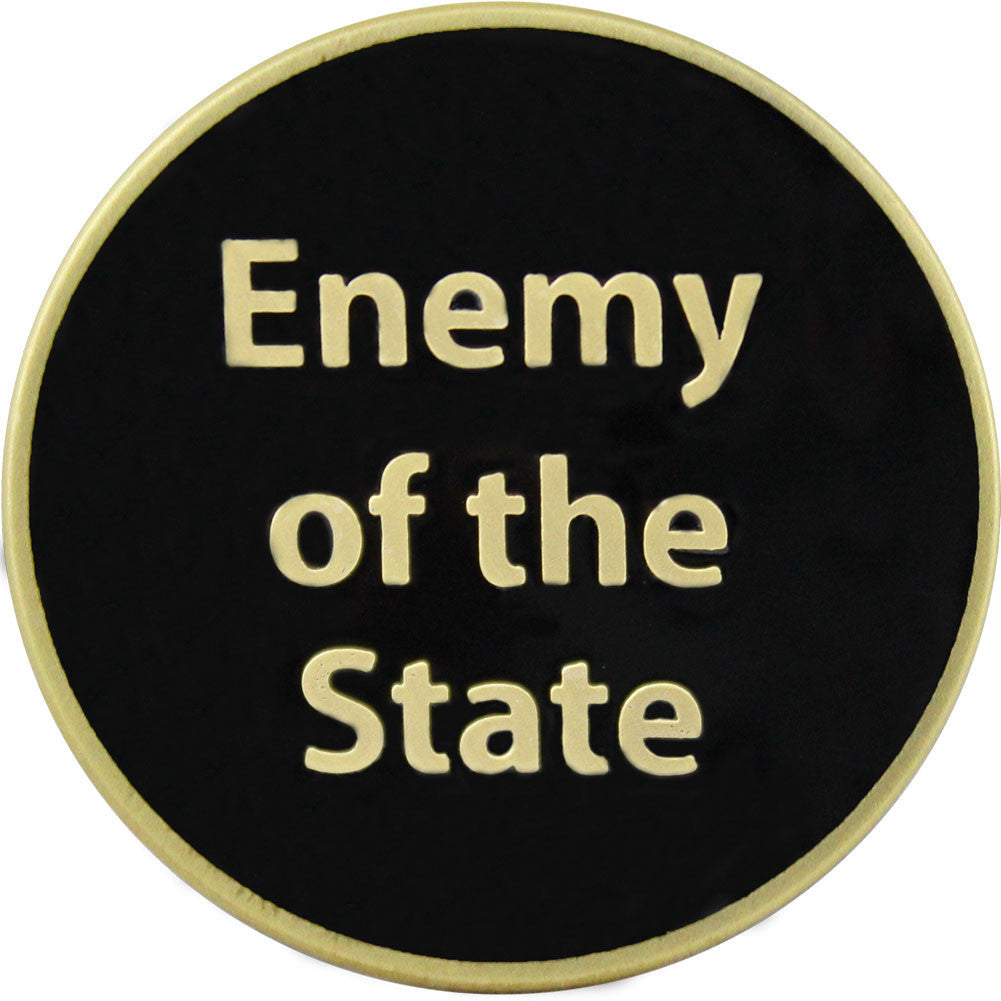 Don't Tread On Me Enemy of the State Coin - Front