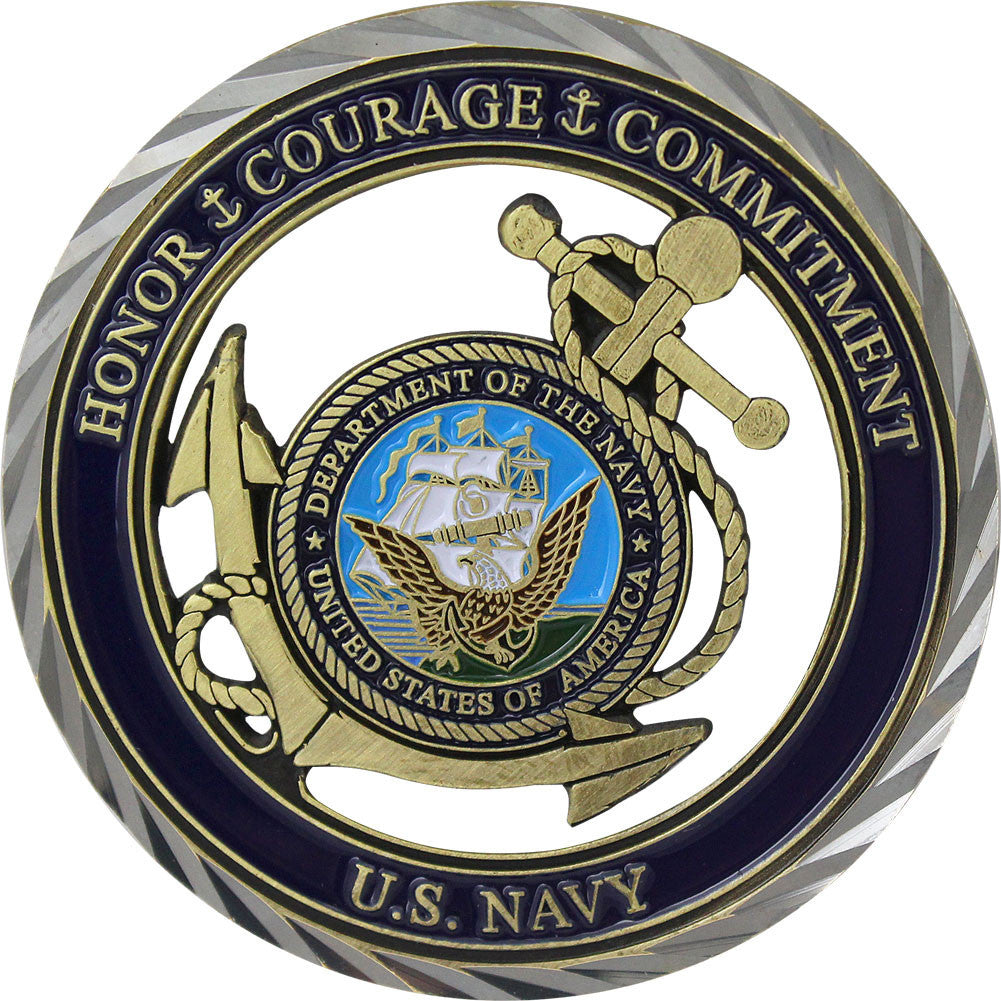 U.S. Navy Core Values Coin - Front