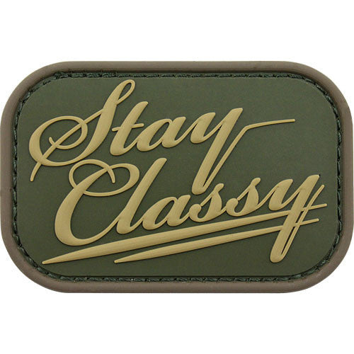 Stay Classy PVC Patch - Multicam