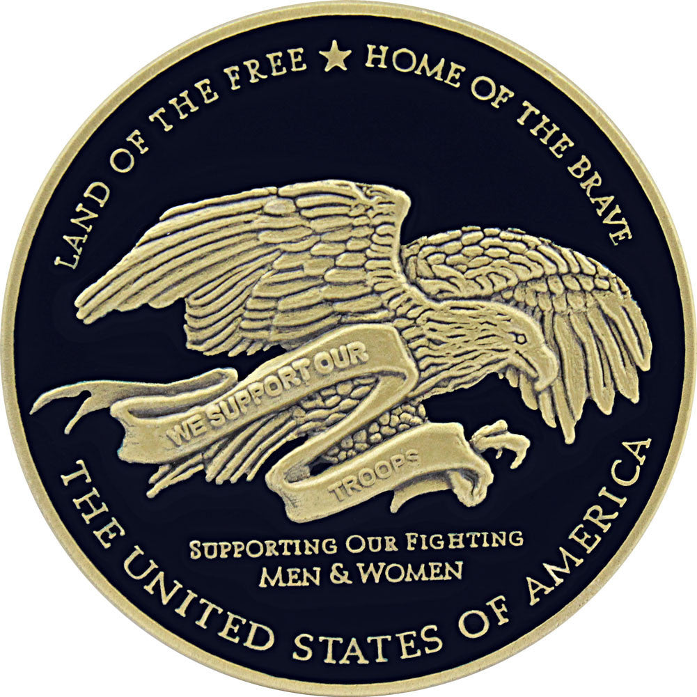 We Support Our Troops Coin - Front