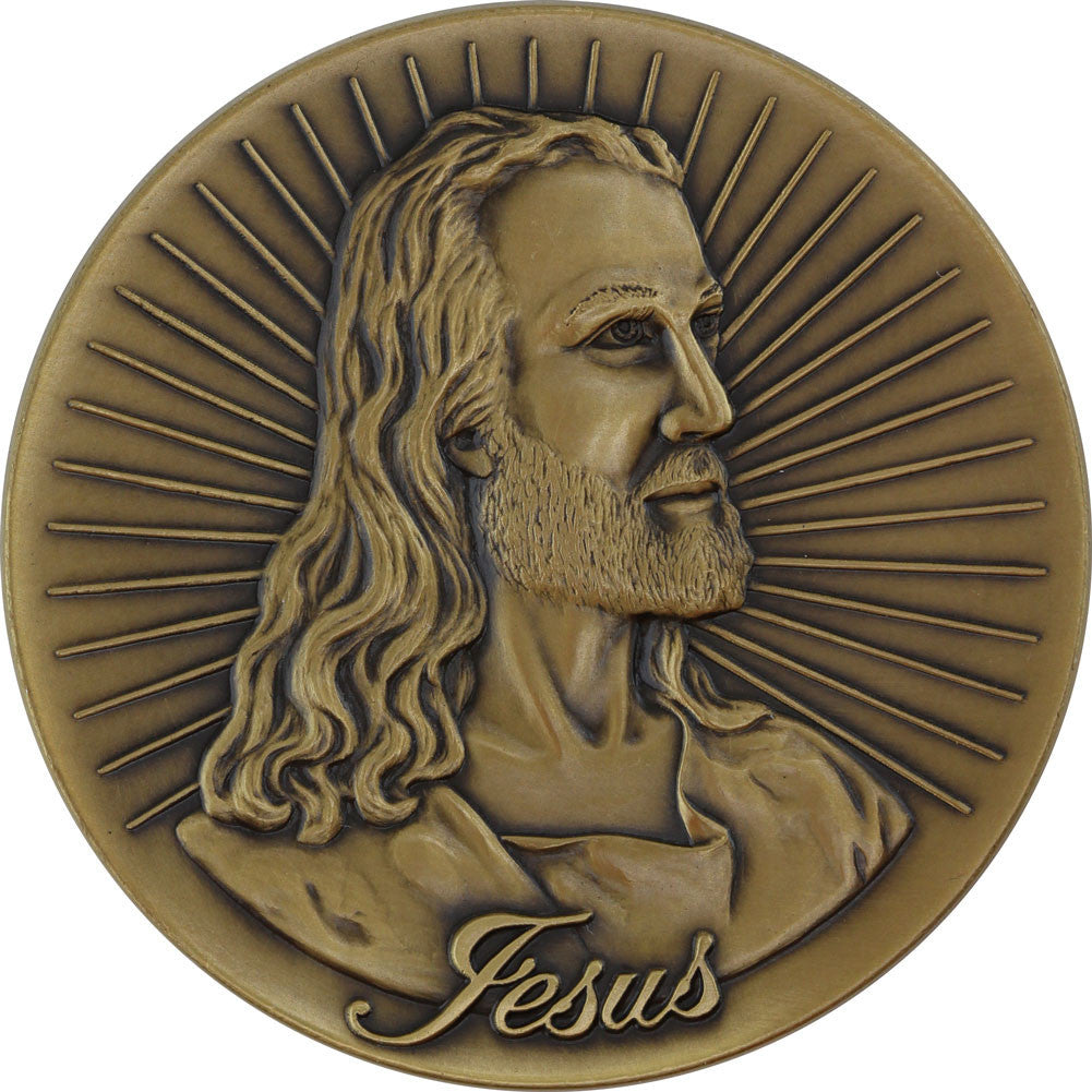 Jesus King of Kings John 3:16 Challenge Coin - Front