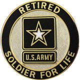 Army Soldier for Life Retired Identification Badge
