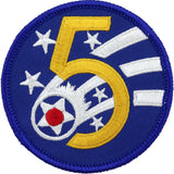 WWII Army Air Corps 5th Air Force Class A Patch