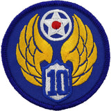 WWII Army Air Corps 10th Air Force Class A Patch