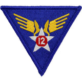 WWII Army Air Corps 12th Air Force Class A Patch