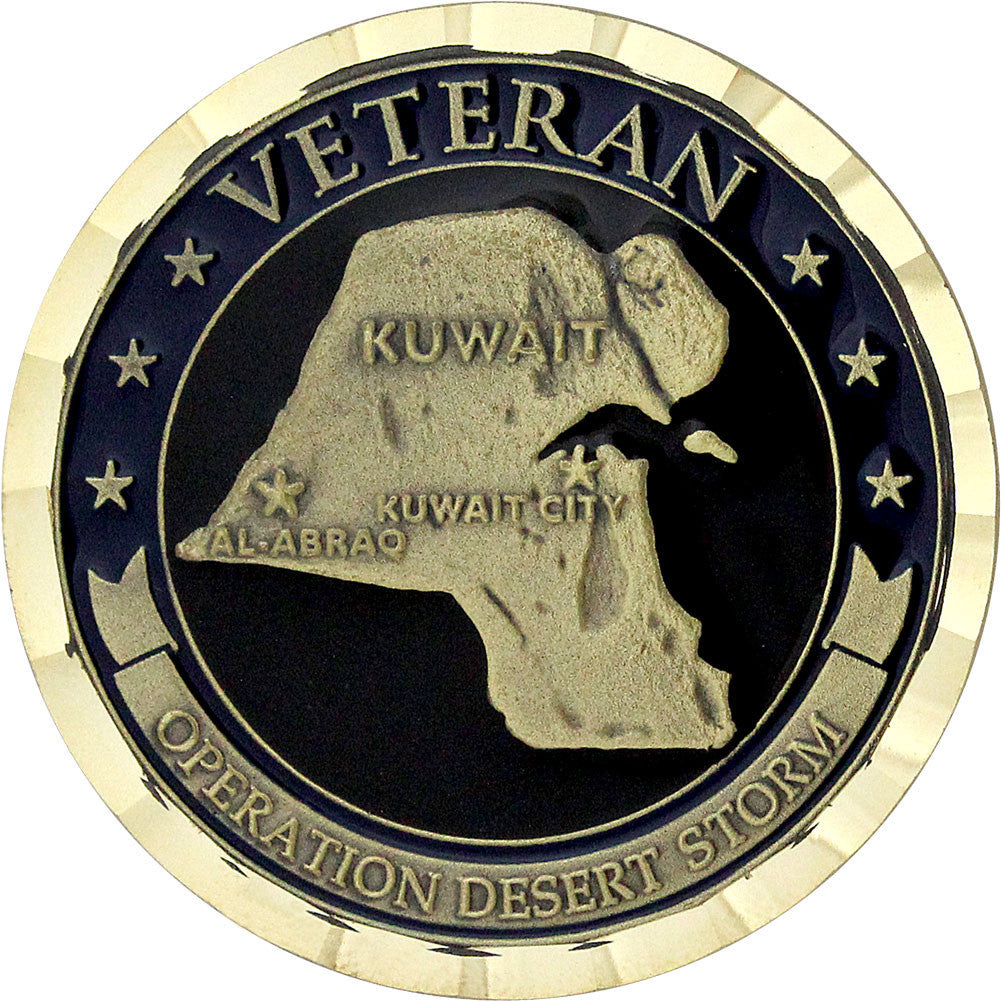 Operation Desert Storm Veteran Coin - Front