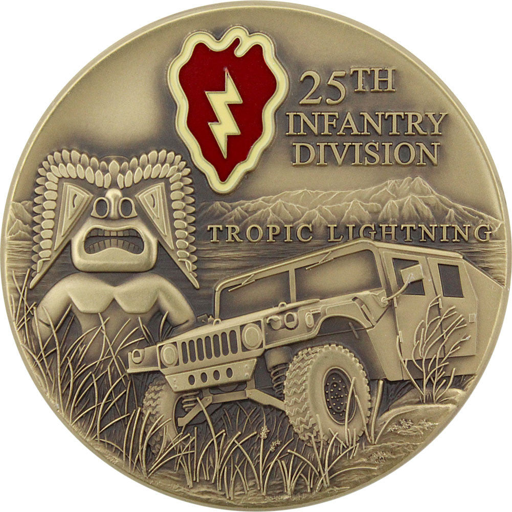 U.S. Army 25th Infantry Coin - Front