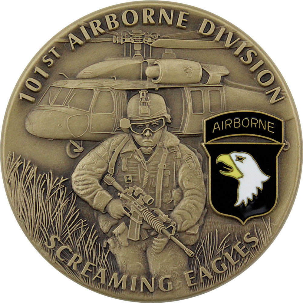 U.S. Army 101st Airborne Coin - Front