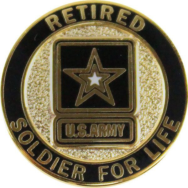 Army Soldier for Life Retired Lapel Pin