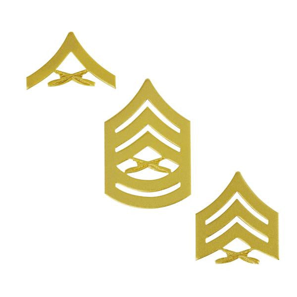 Marine Corps Gold Satin Enlisted Rank