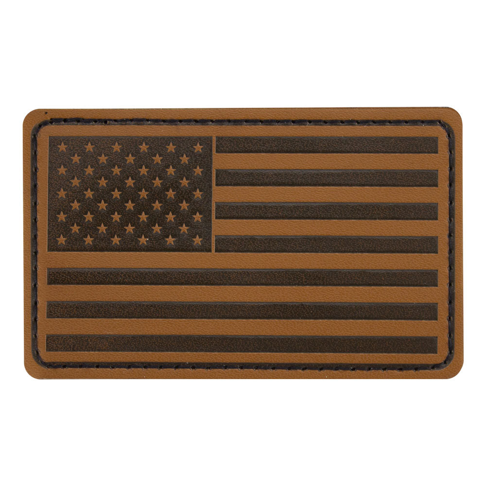 U.S. Flag Patch Leather - Forward Facing