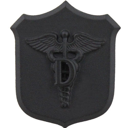 Navy and Marine Corps Dental Shield with Caduceus Collar Device - Black / Subdued