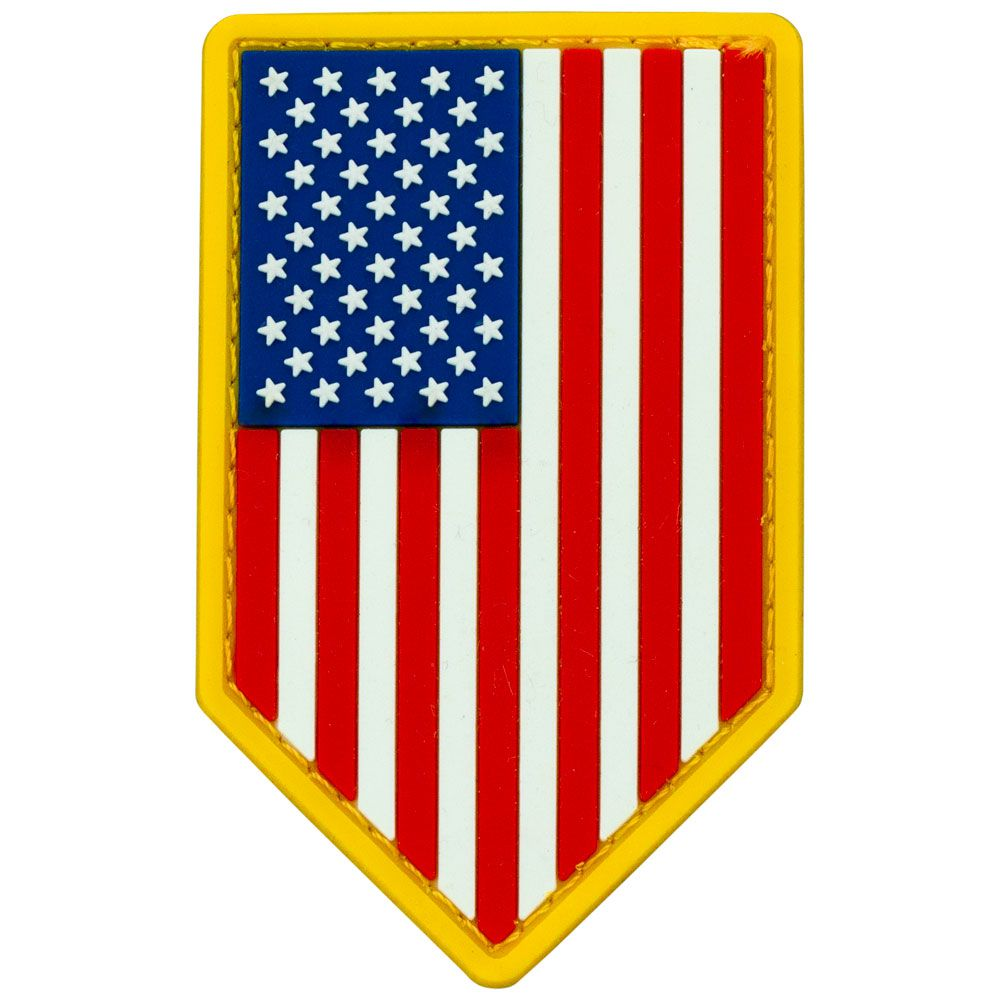 US Flag PVC Patch Vertical