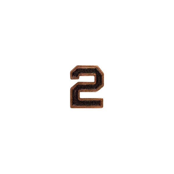 Prongless Bronze Numeral 2