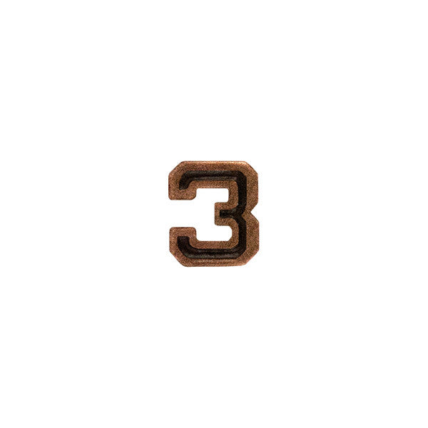 Prongless Bronze Numeral 3