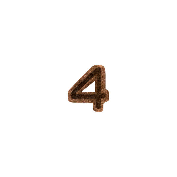 Prongless Bronze Numeral 4