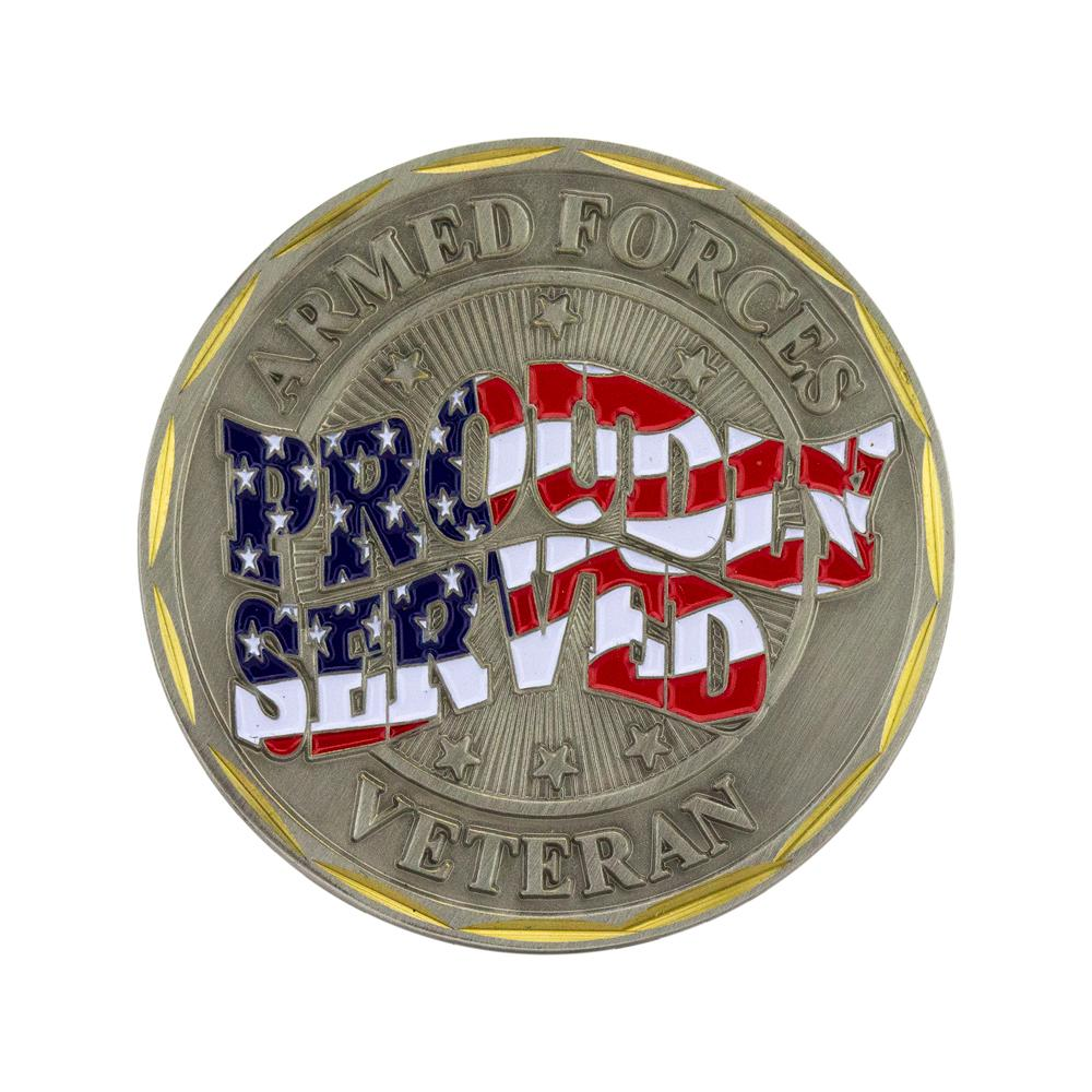 U.S. Army Veteran Coin - Proudly Served