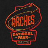 Arches National Park Neon Sign T-Shirt