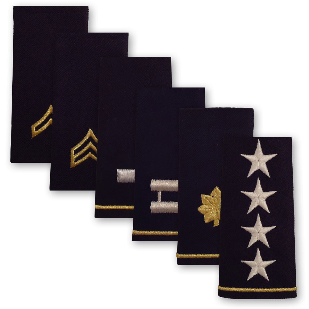 Army Epaulettes - Enlisted and Officer - Large Size