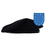 Unformed Black Beret with Flash