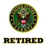 U.S. Army Retired Round Clear Decal