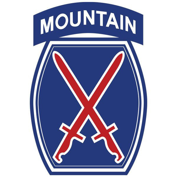 10th Mountain Division Vinyl Decal