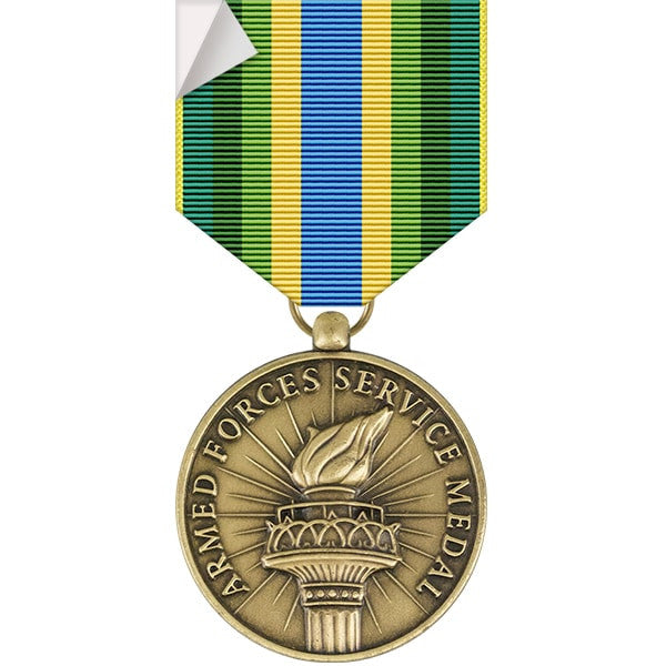 Armed Forces Service Medal Sticker