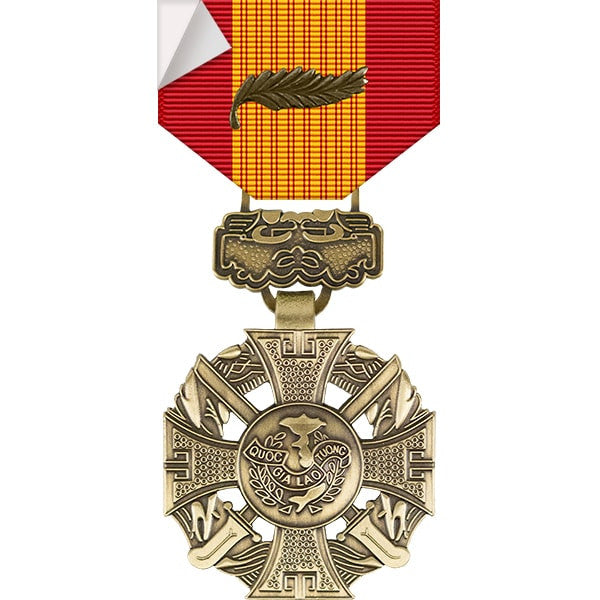 Republic of Vietnam Gallantry Cross Medal w/ Palm Sticker