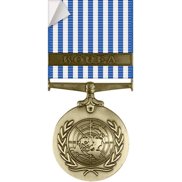 United Nations Korean Service Medal Sticker