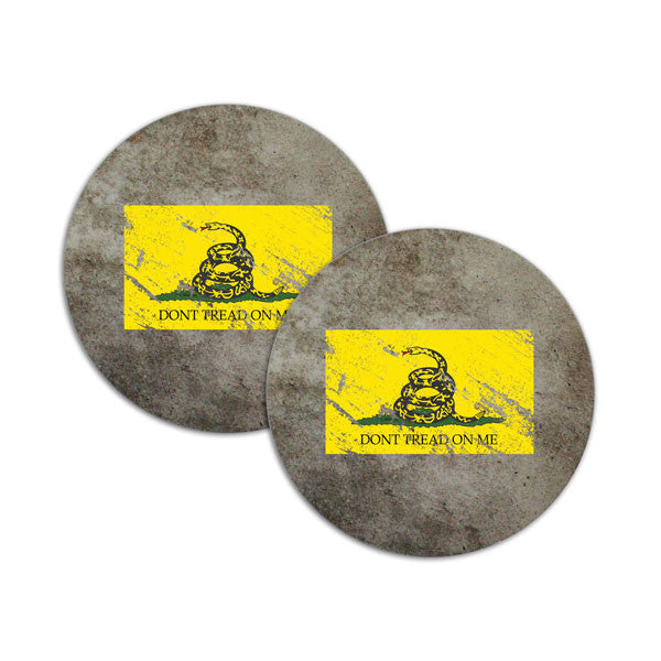 Don't Tread On Me Distressed Flag Coasters