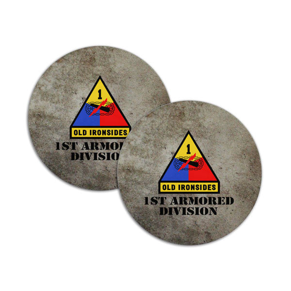 1st Armored Division Coasters