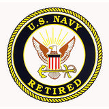 U.S. Navy Retired Clear Decal