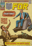 Roosevelt FDR Fights the Fuhrer Vintage Comic Poster Print