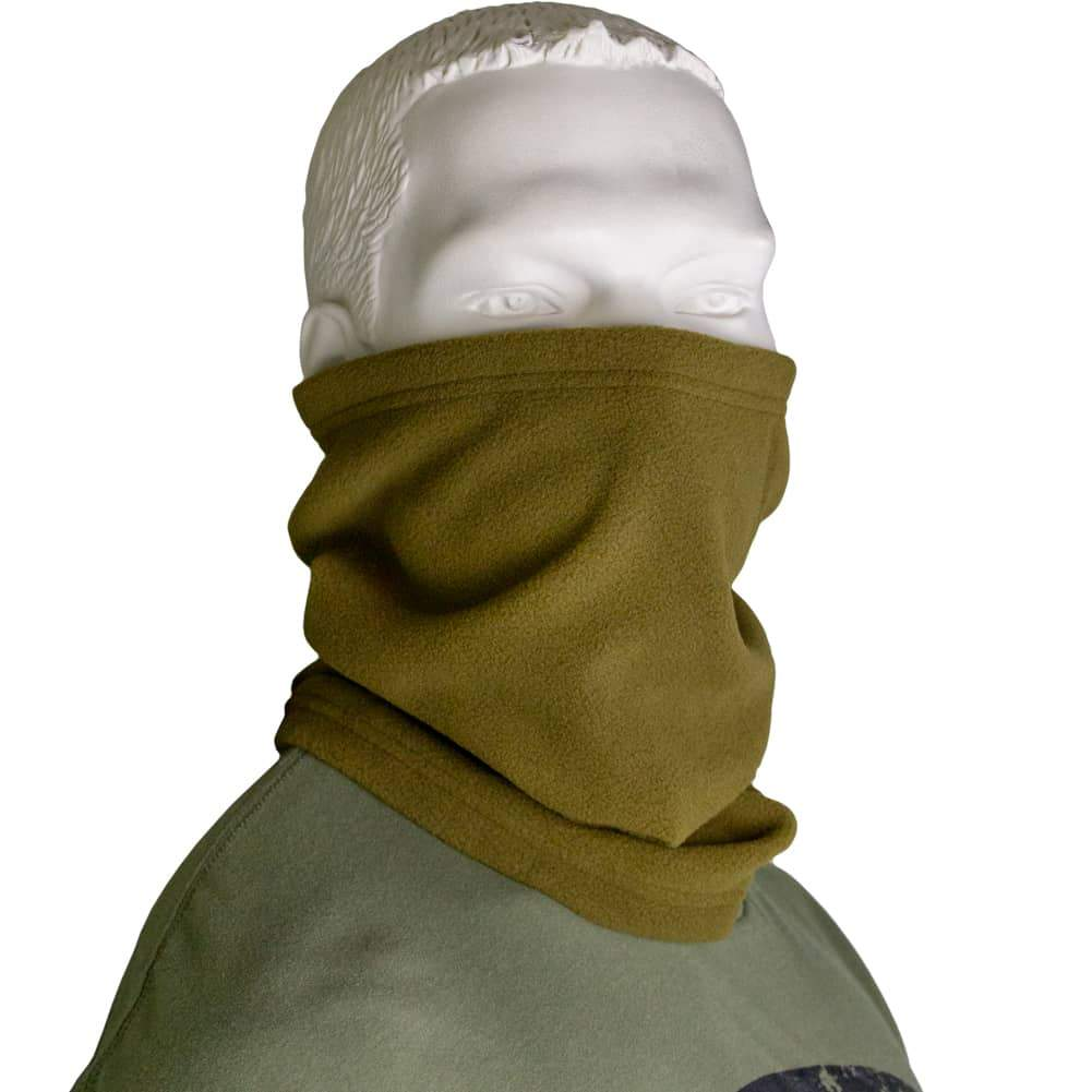 Polar Fleece Neck Warmer - Coyote Brown