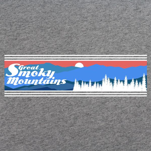 Retro 80's Great Smoky Mountains National Park T-Shirt