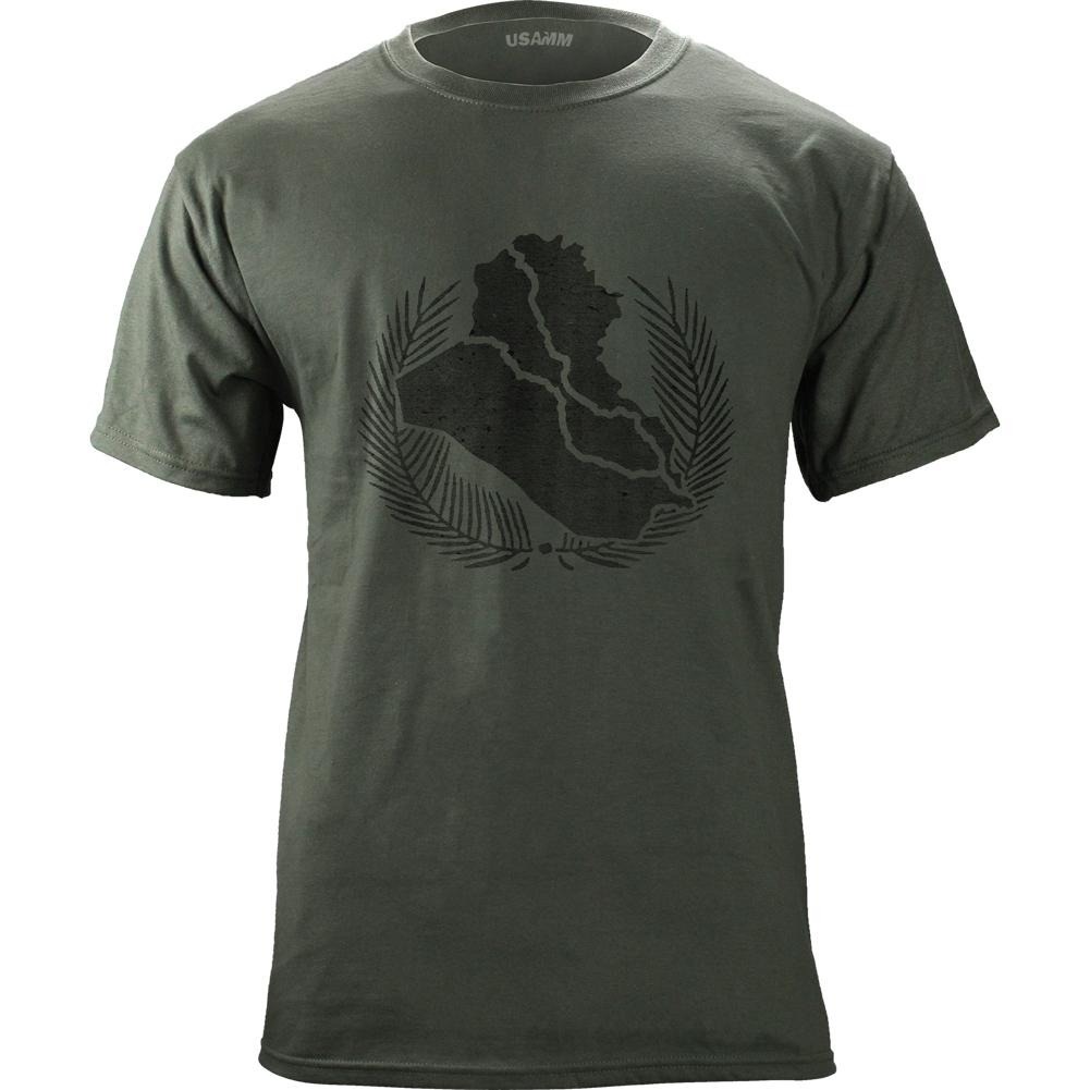 Vintage Style Iraq Campaign Medal (Black Ink) T-Shirt