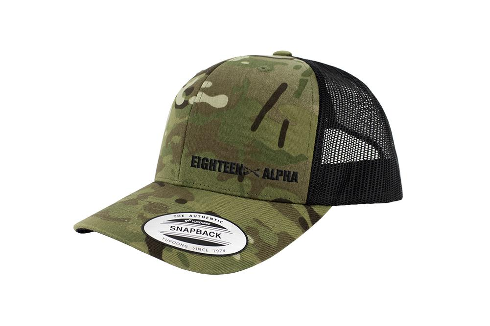 Eighteen Alpha MOS Snapback Trucker Multicam Caps