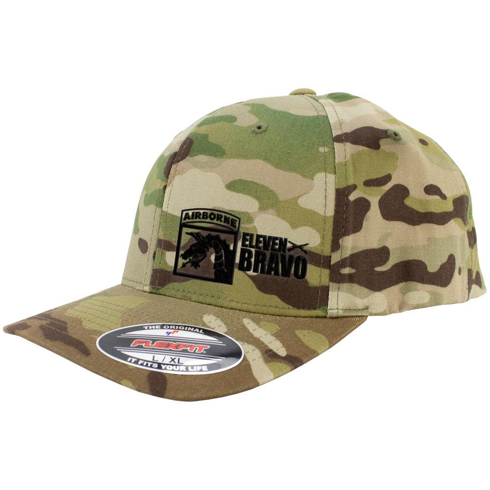 18th Airborne 11 Bravo Series FlexFit Caps Multicam