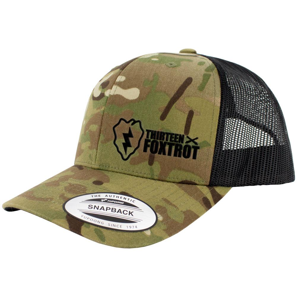 25th Infantry 13 Foxtrot Series Snapback Trucker Multicam