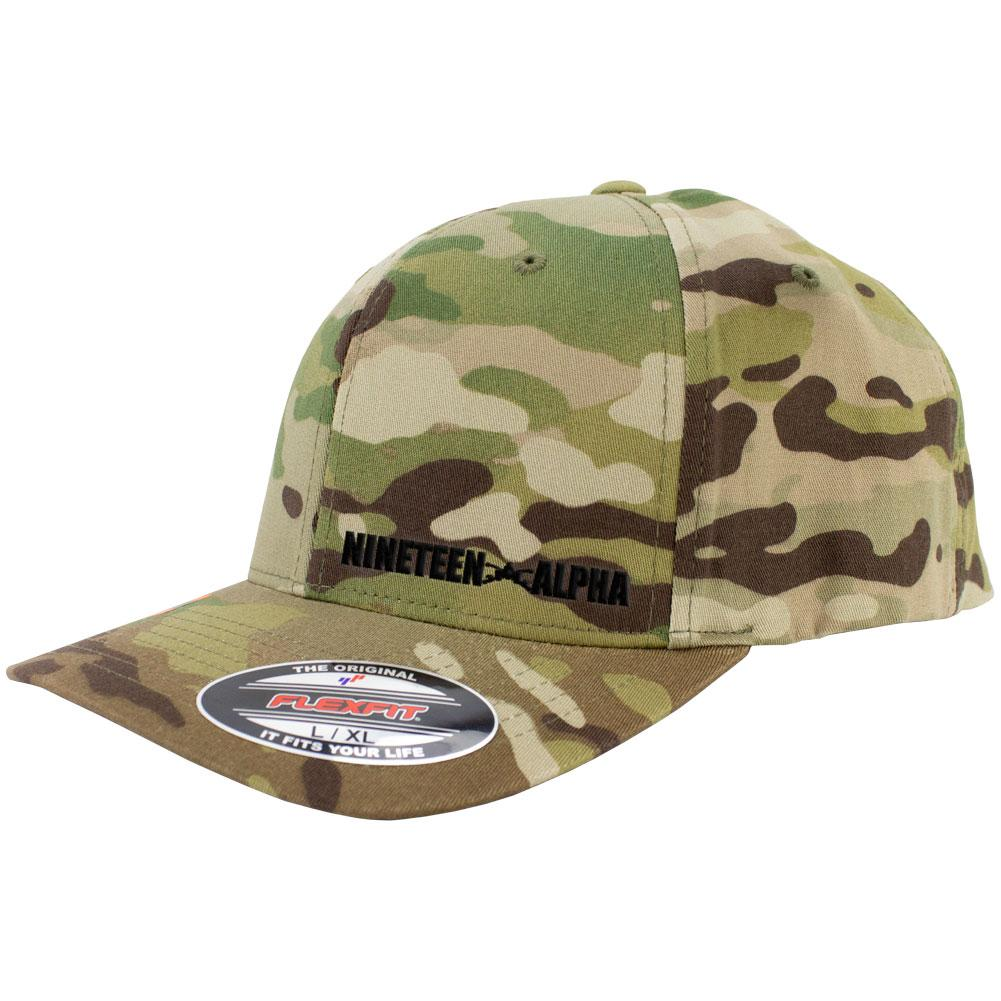 Nineteen Alpha MOS Series FlexFit Multicam Caps