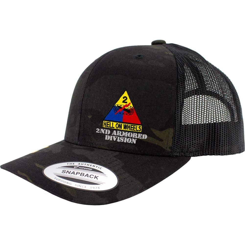 2nd Armored Division Snapback Trucker Cap - Multicam