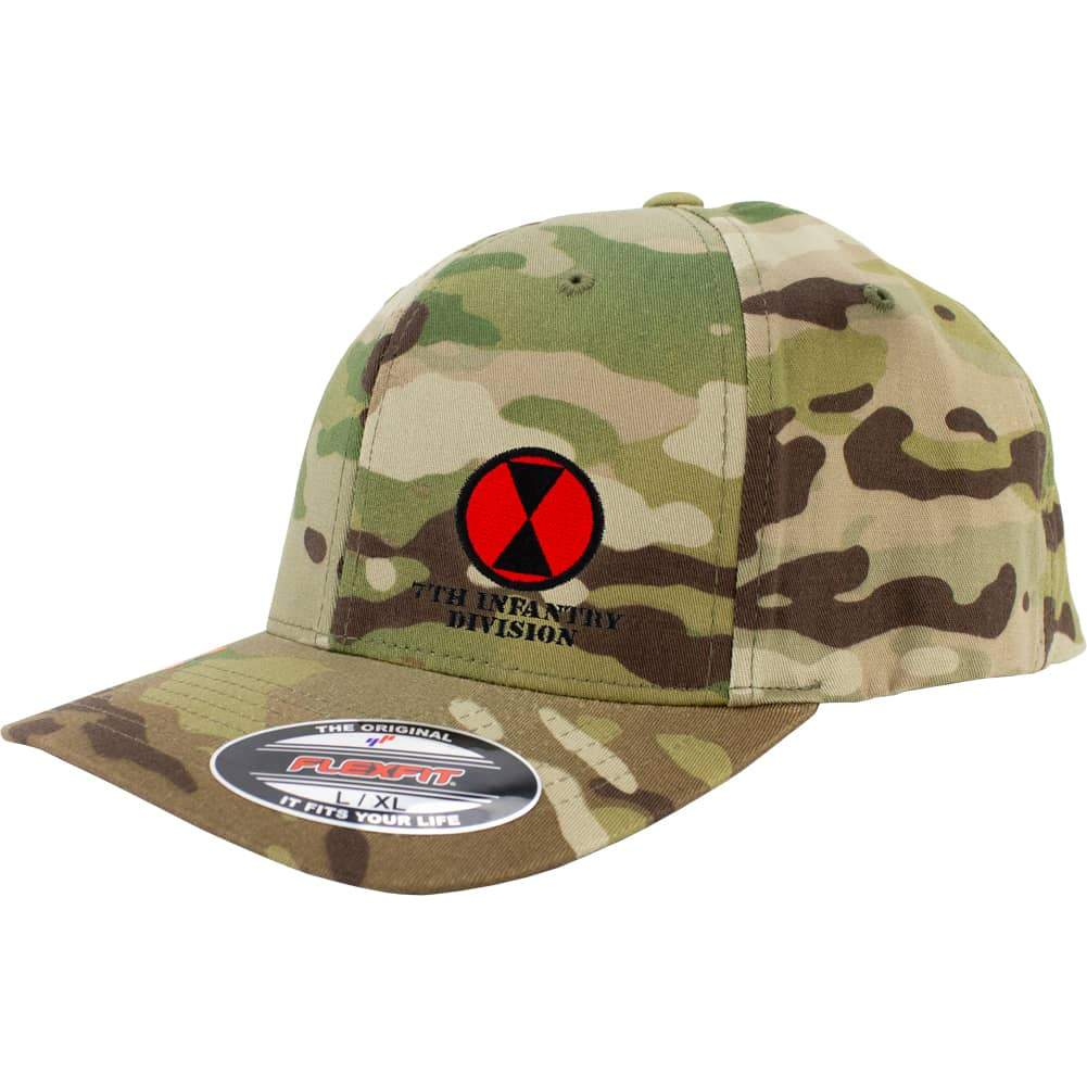 7th Infantry Division FlexFit Caps - Multicam