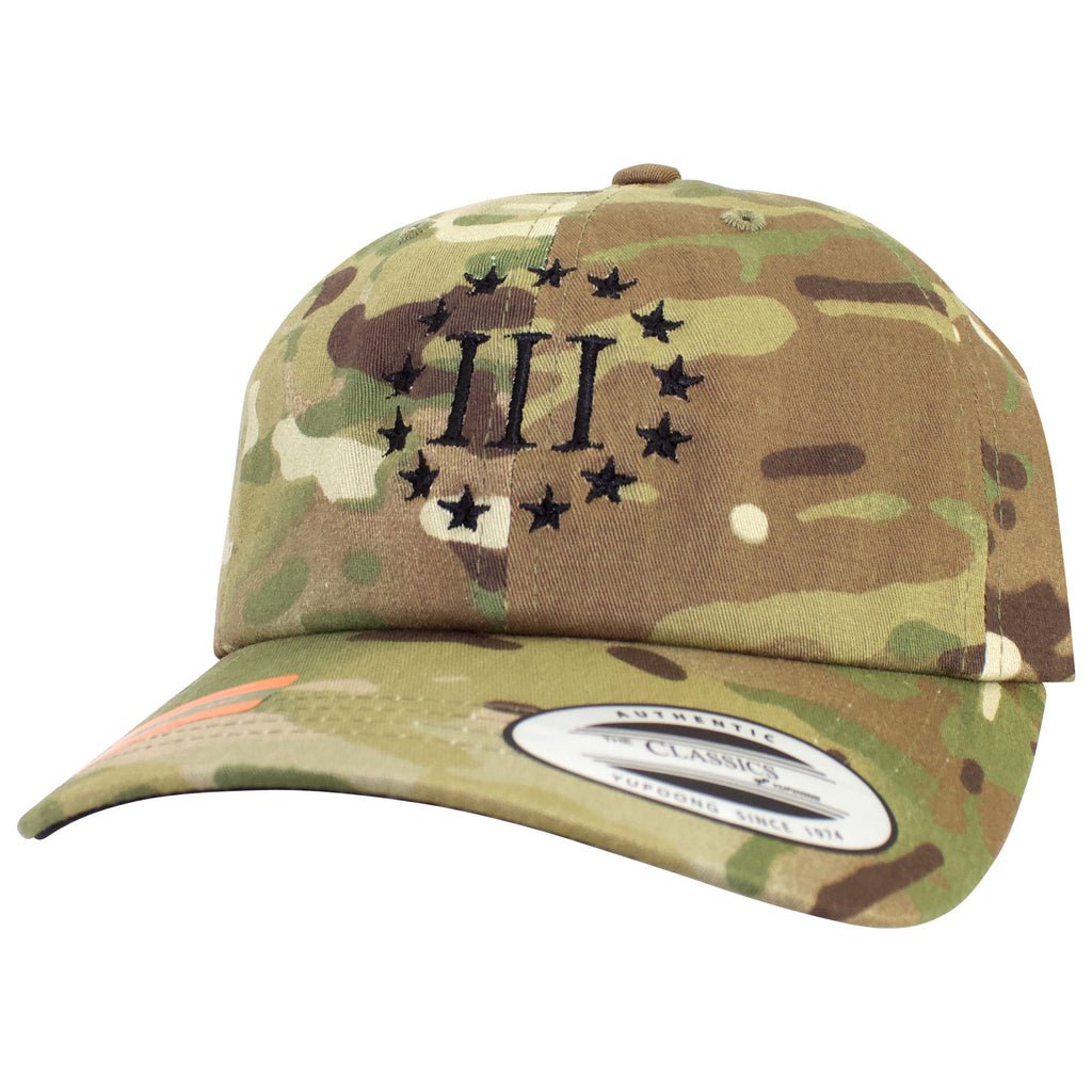 3%er (Three Percenter) Classic Multicam Dad's Cap