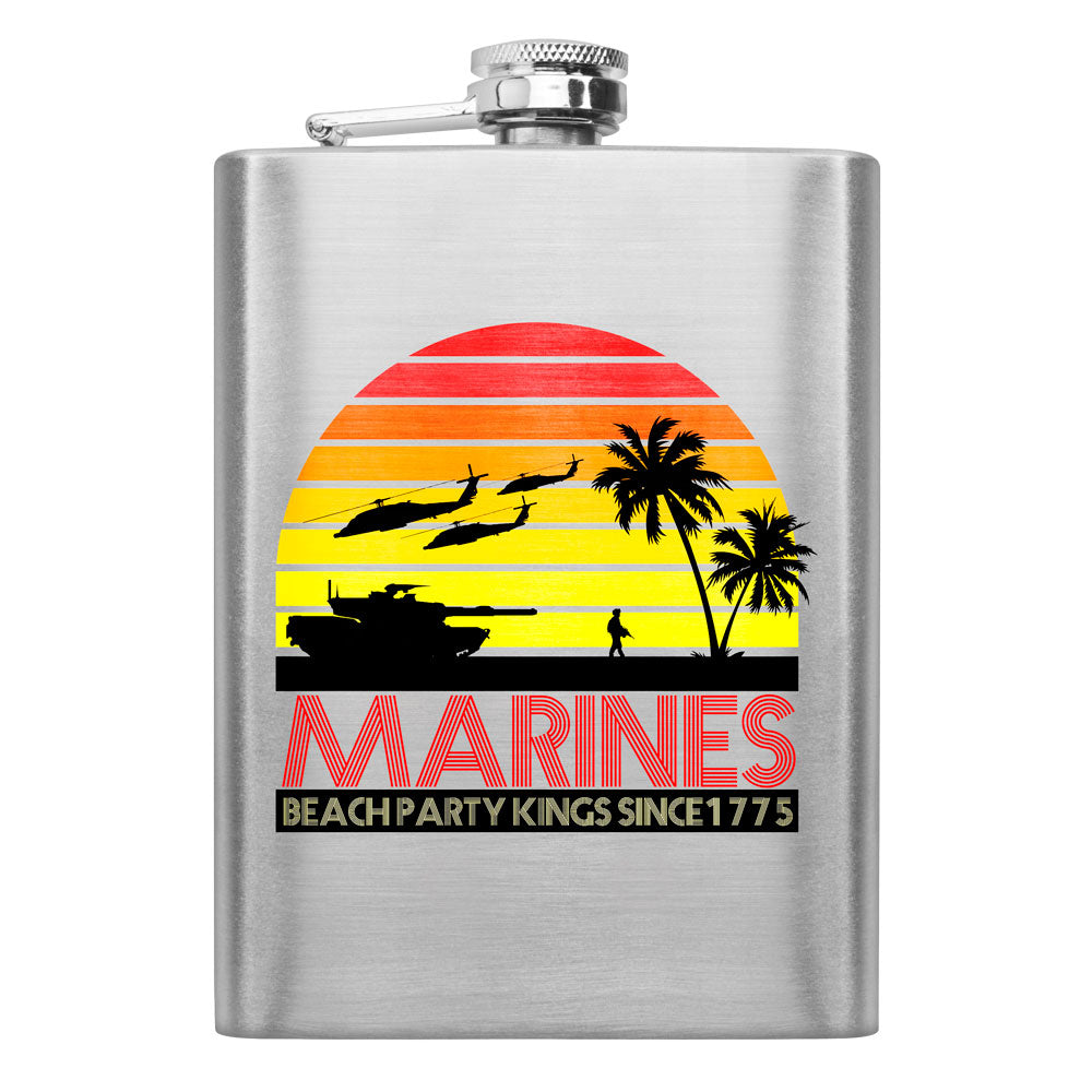 Marines Beach Party Kings 8 oz. Flask