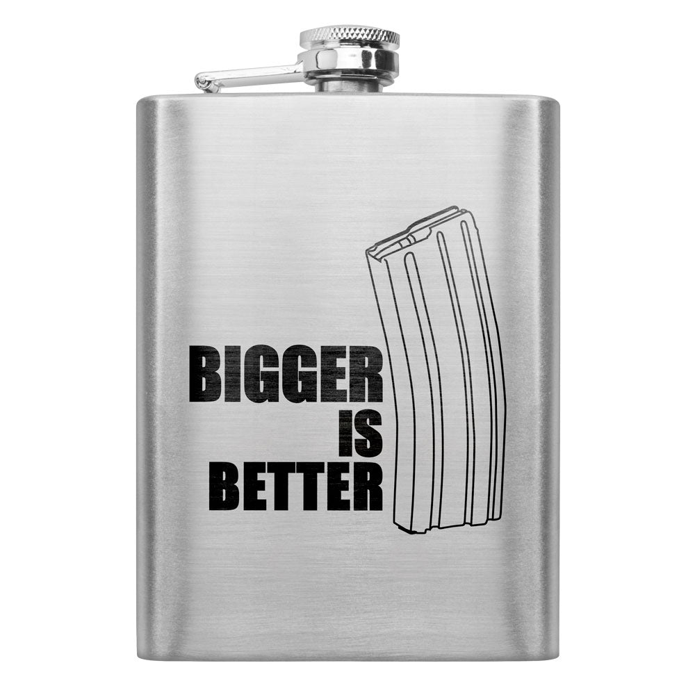 Bigger is Better 8 oz. Flask