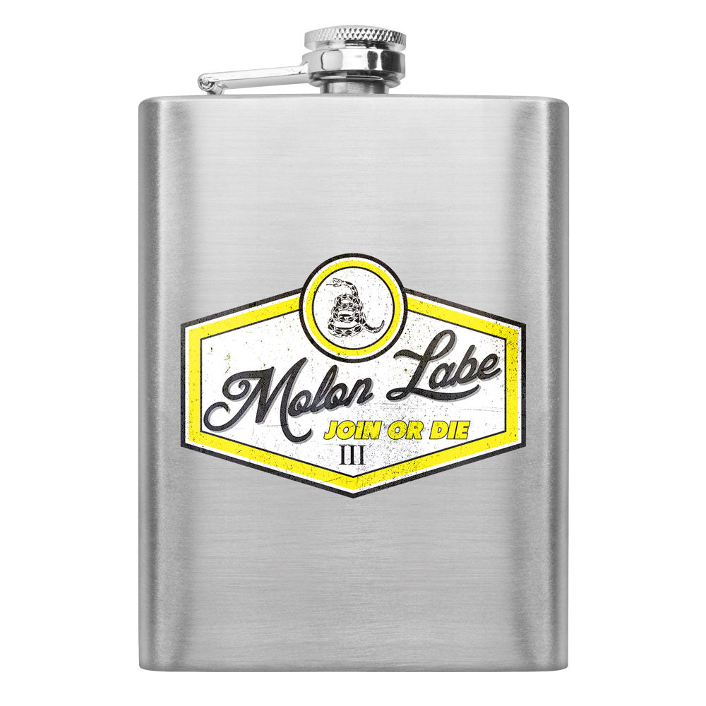 Molon Labe Retro Join or Die 8 oz. Flask