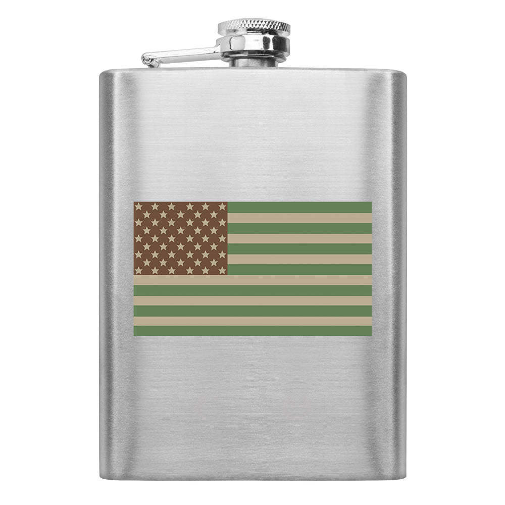 Desert U.S. Flag 8 oz. Flask